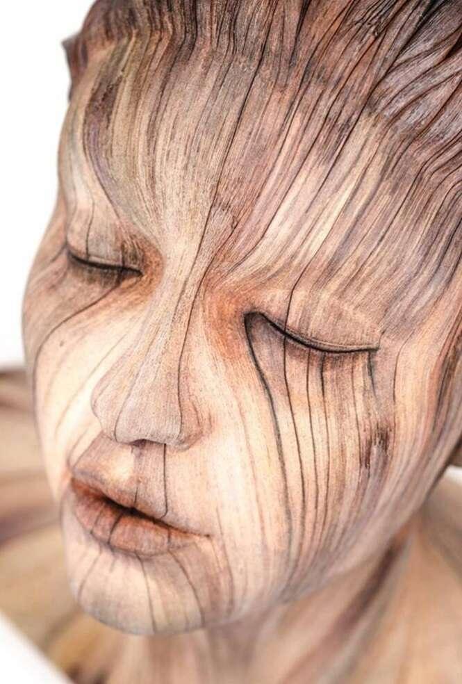 Esculturas de madeira tão realistas que vão fazer o seu queixo cair