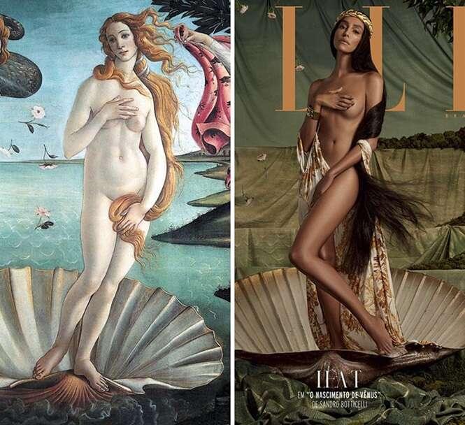 Pinturas famosas recriadas com celebridades brasileiras