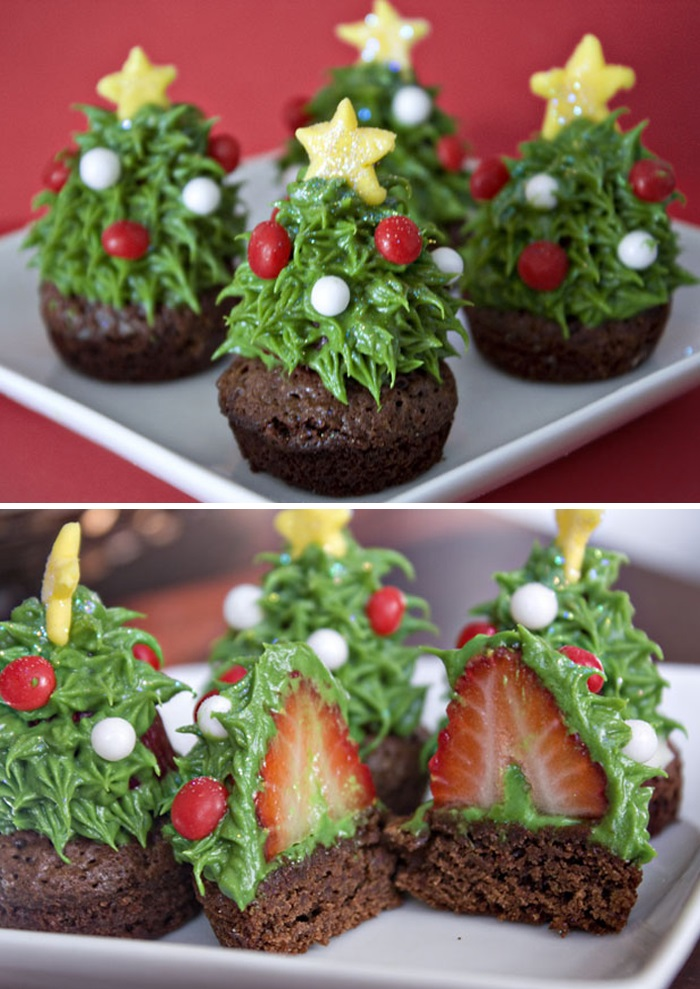 As ideias mais criativas de cupcakes para o Natal