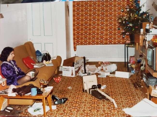 Fotos natalinas em que o espírito natalino passou longe