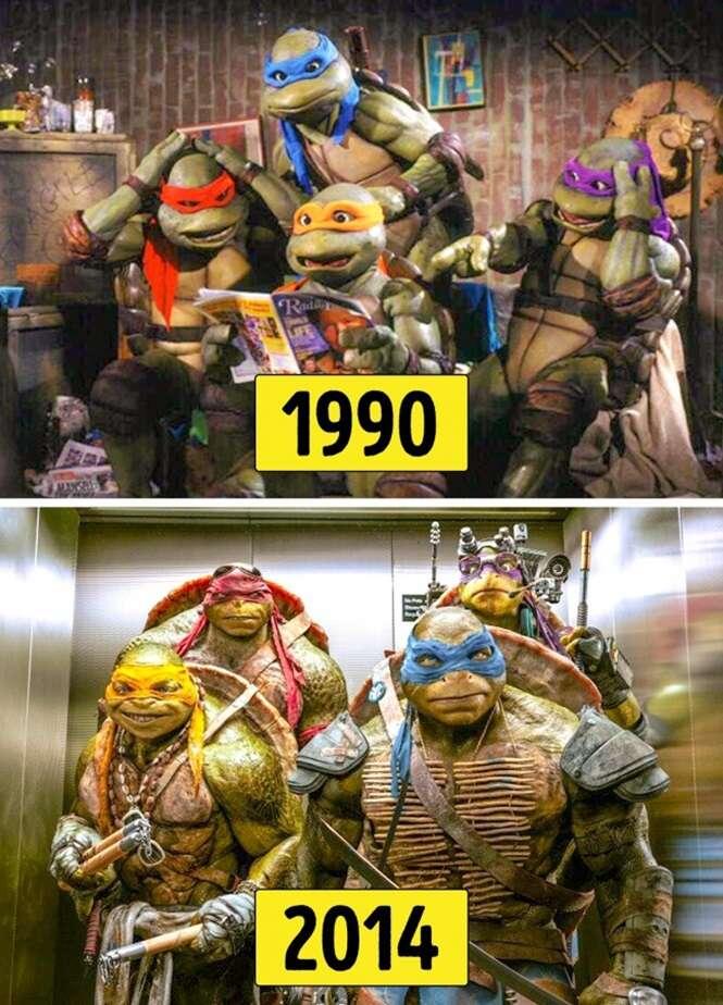 Filmes em versões antigas e atuais