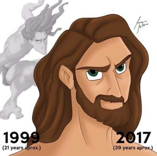 Jovens personagens da Disney transformados em adultos