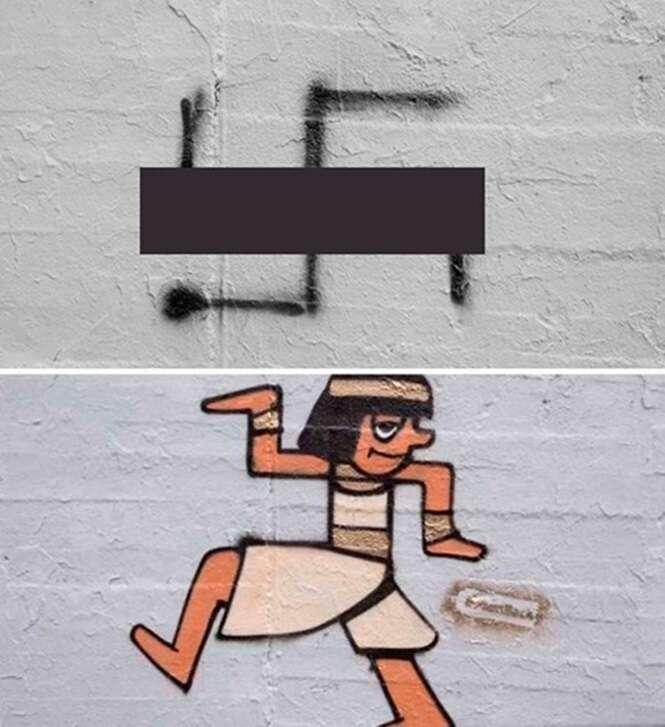 Artistas cobrem suásticas desenhadas por cidade na Alemanha