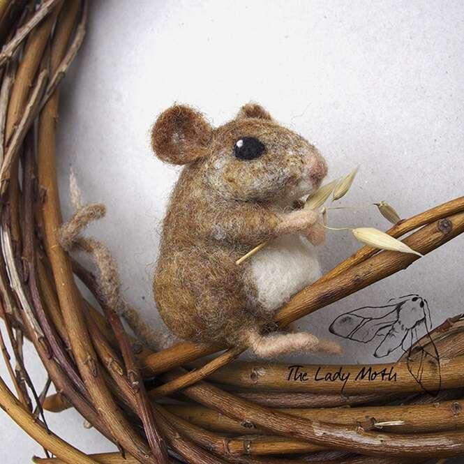 Animais fascinantes feitos de feltro
