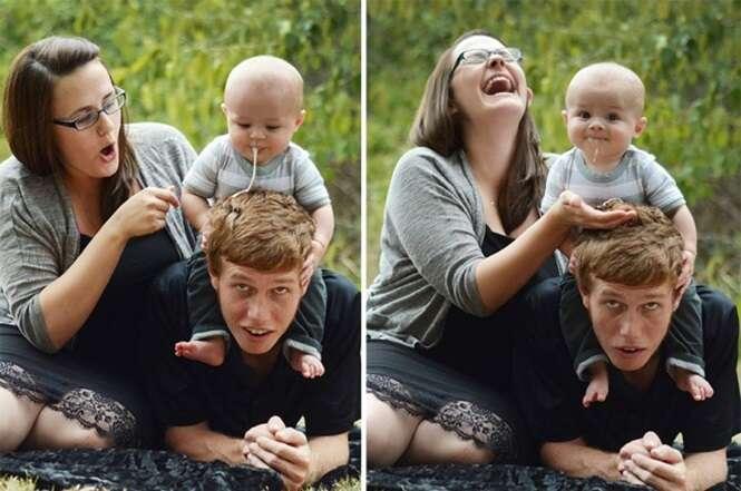 """Bebês que """"arruinaram"""" fotos"""