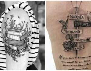 15 belas tatuagens as quais quem é apaixonado por livros pode se interessar