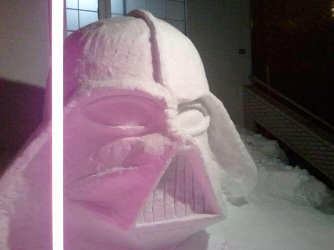 Bonecos de neve incomuns