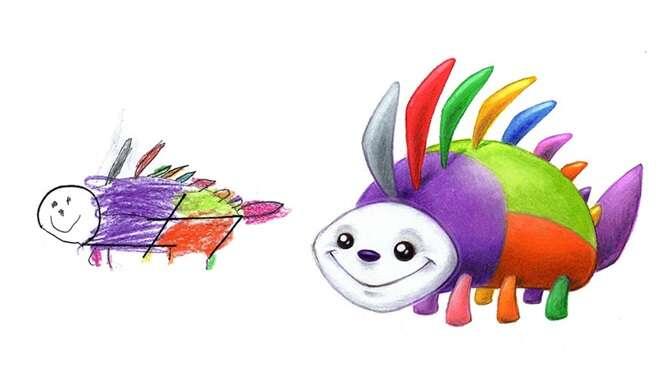 Monstrinhos adoráveis baseados em desenhos infantis