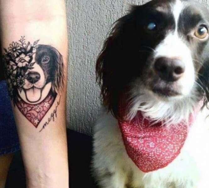 Pessoas que imortalizaram o amor por seus pets
