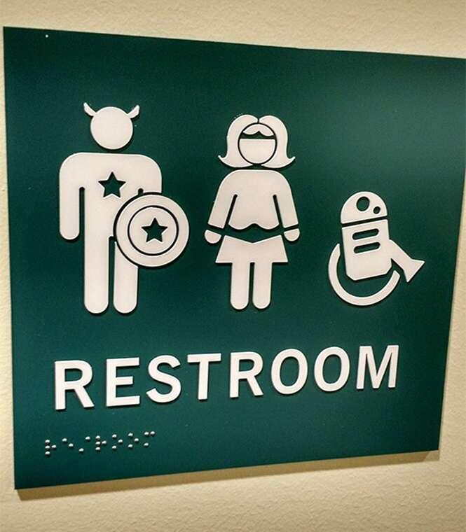 Pessoas que inovaram nas indicações de banheiros