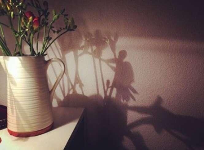 Sombras que mostram coisas totalmente diferentes da realidade