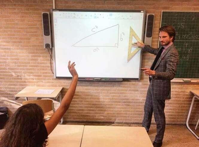 Este é, provavelmente, um dos professores de matemática mais quentes que você já viu