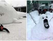 12 pessoas que não deixaram seu senso de humor ser coberto pela neve