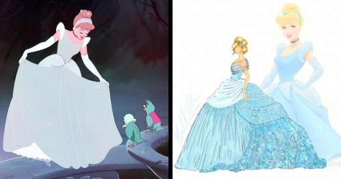 Vestidos inspirados em princesas da Disney que ficaram melhores que os originais