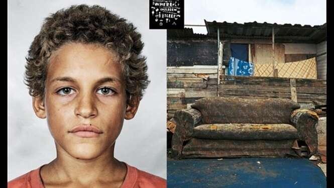 Fotos impactantes mostrando as condições em que crianças dormem ao redor do mundo