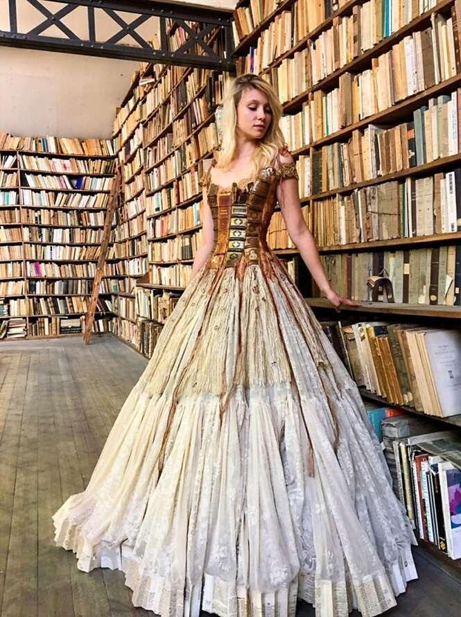 Esta francesa cria vestidos como ninguém