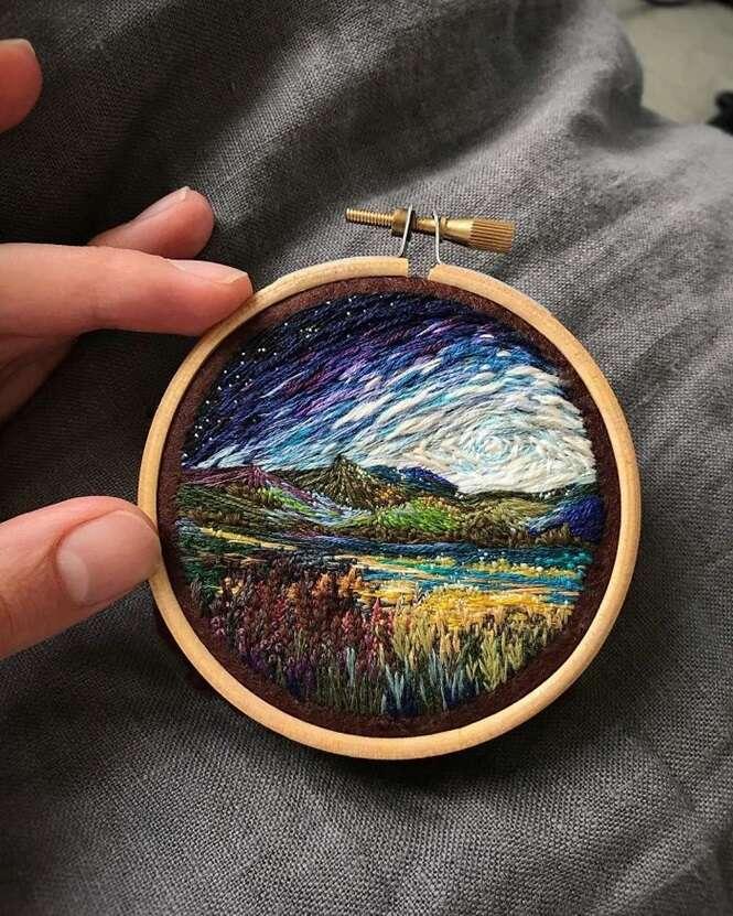 Bordados espetaculares que mais parecem pinturas