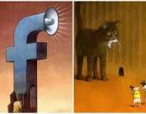 15 ilustrações honestas mostrando o que há de errado na sociedade atual
