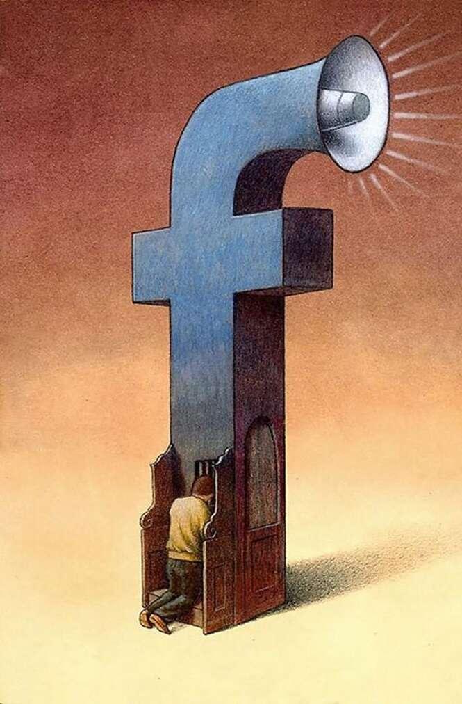 Ilustrações honestas mostrando o que há de errado na sociedade atual